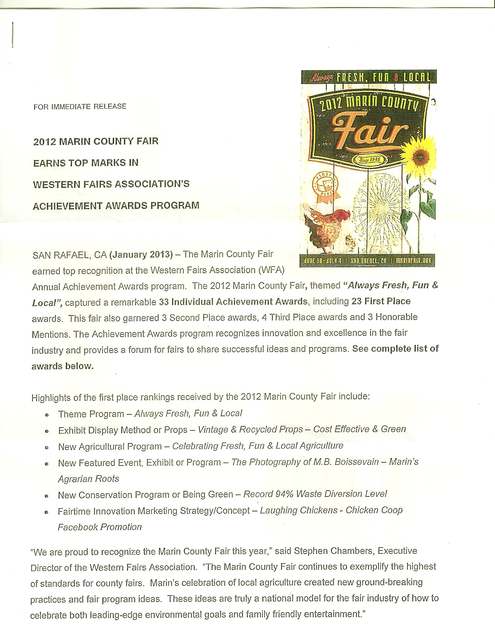 Marin County Fair Press Release ...